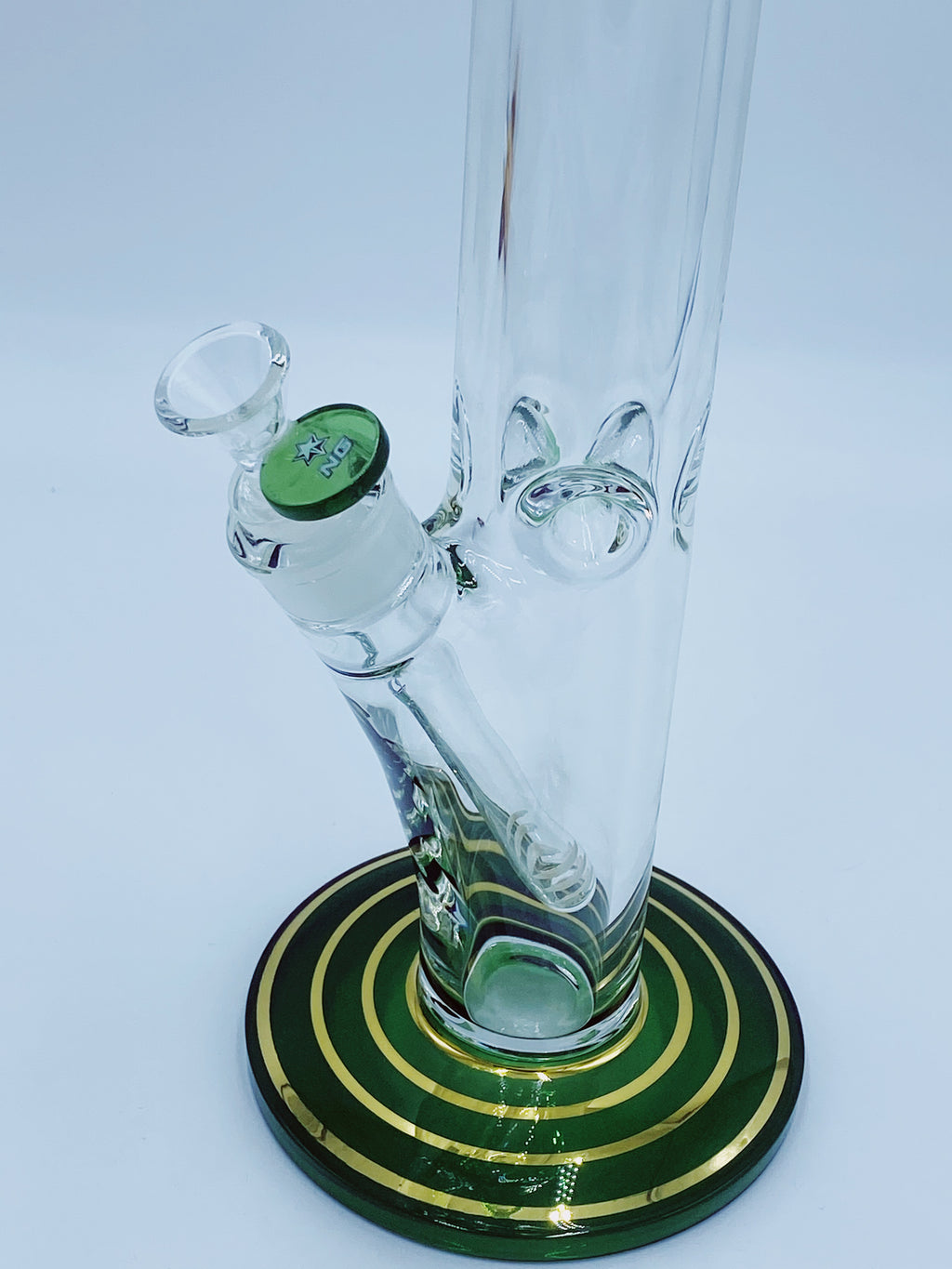 Nice Glass 9mm Hand Painted Straight Tube