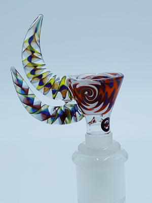 Cheech Glass Double Horn Bowl bowl cheech glass- Smoke Country - Land of the artistic glass blown bongs