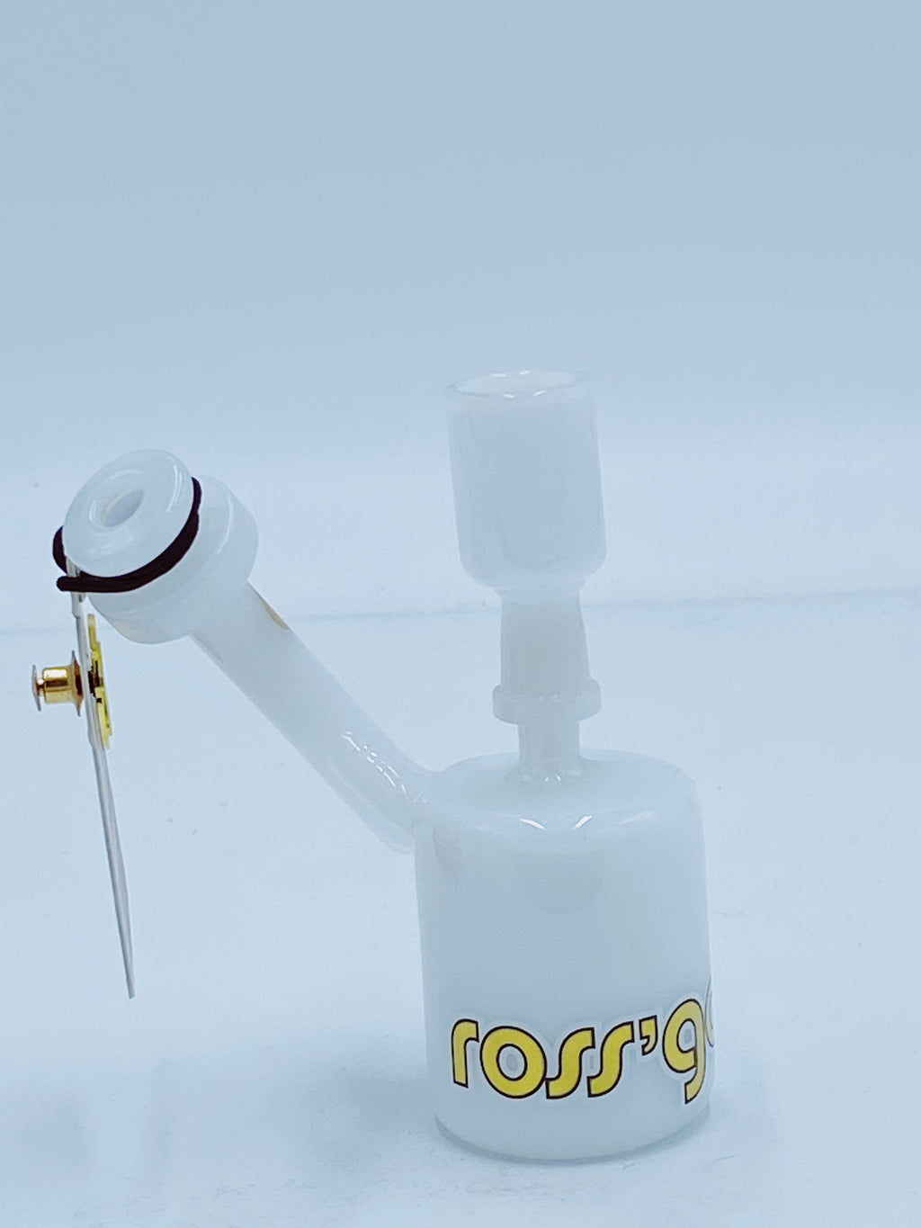 ROSS GOLD WHITE SIDECAR RIG - Smoke Country - Land of the artistic glass blown bongs