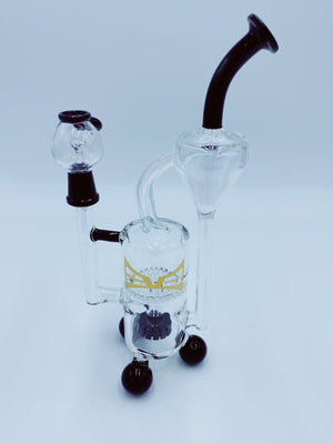 Evolution Glass Honey Comb Recycler rigs EVOLUTION GLASS- Smoke Country - Land of the artistic glass blown bongs