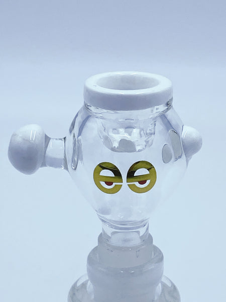 Cheech Glass 14mm White Screen Conic Bowl