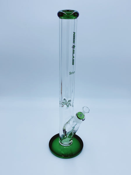 Nice Glass 9mm Green Straight Tube