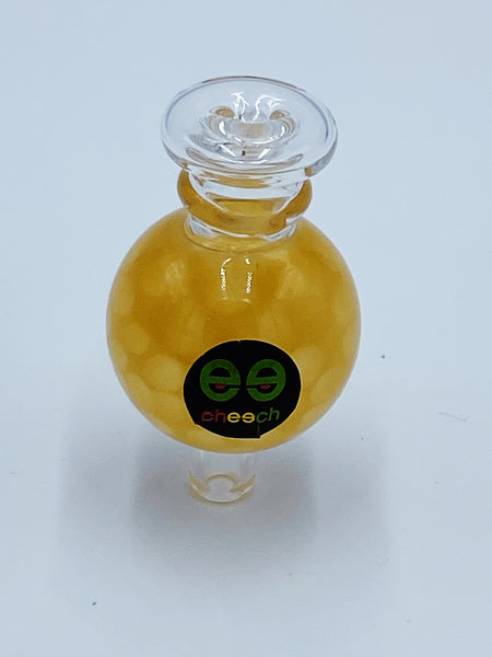 Cheech Glass Yellow Honeycomb Carb Cap