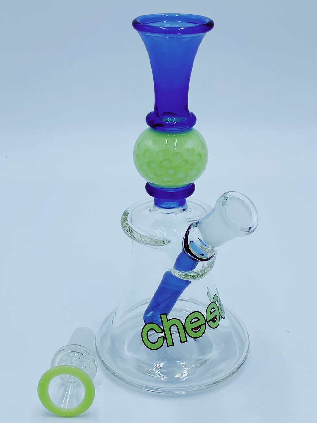 Cheech Glass Blue Fixed Stem Beaker