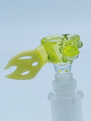 Tear E 14mm Flame Handle bowl - Smoke Country - Land of the artistic glass blown bongs