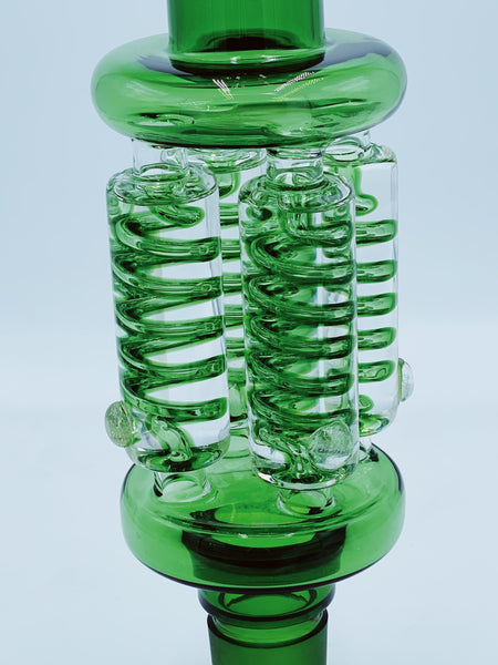 Cheech Glass Quad Freeable Coil Top Piece