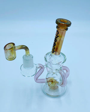 Cheech Glass Triple Recycler Gold Rig