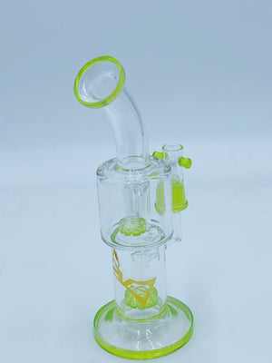 Evolution Glass DOUBLE SHOWER HEAD RIG - Smoke Country - Land of the artistic glass blown bongs