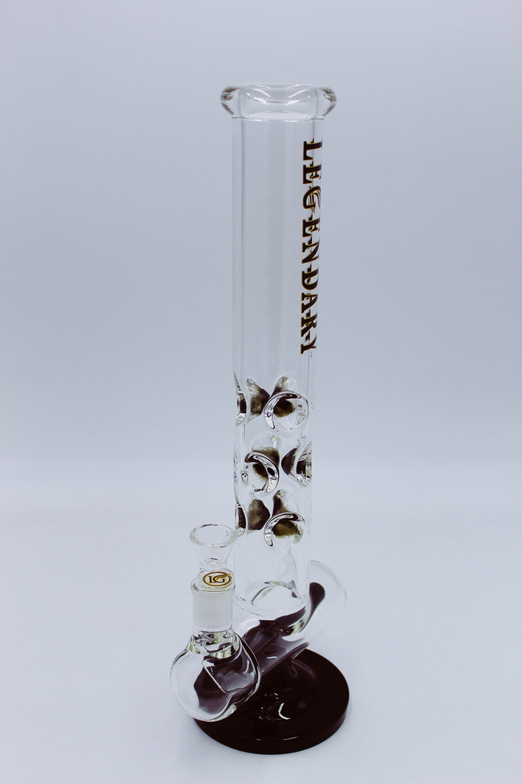 LEGENDARY GLASS BLACK INLINE PERCOLATOR - Smoke Country - Land of the artistic glass blown bongs