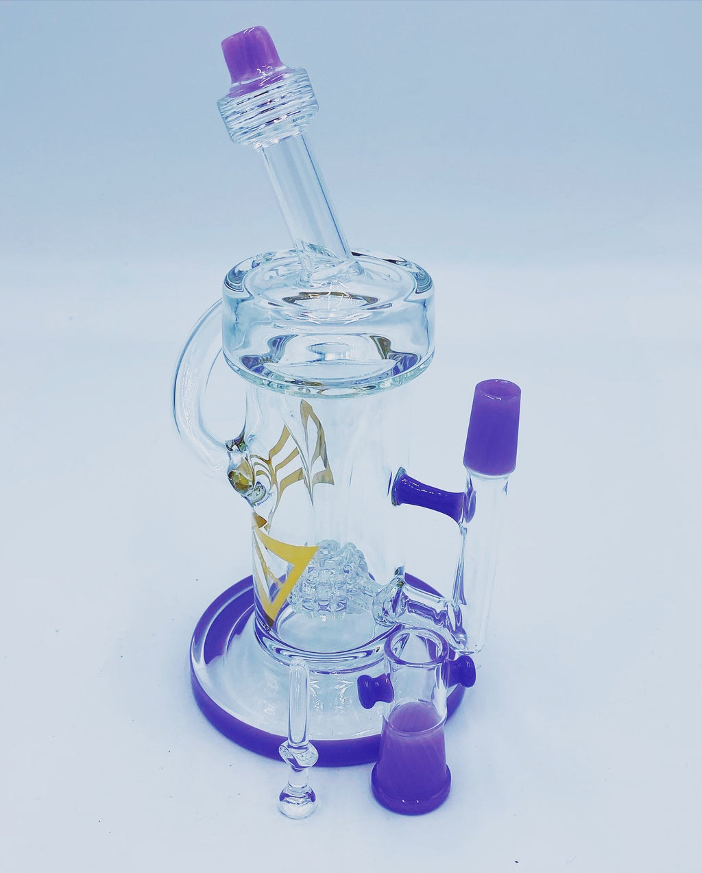Evolution Glass Purple Barrel Recycler