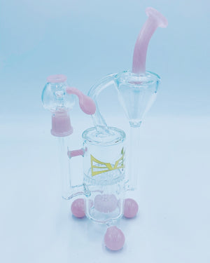 Evolution Glass Pink Honeycomb Recycler