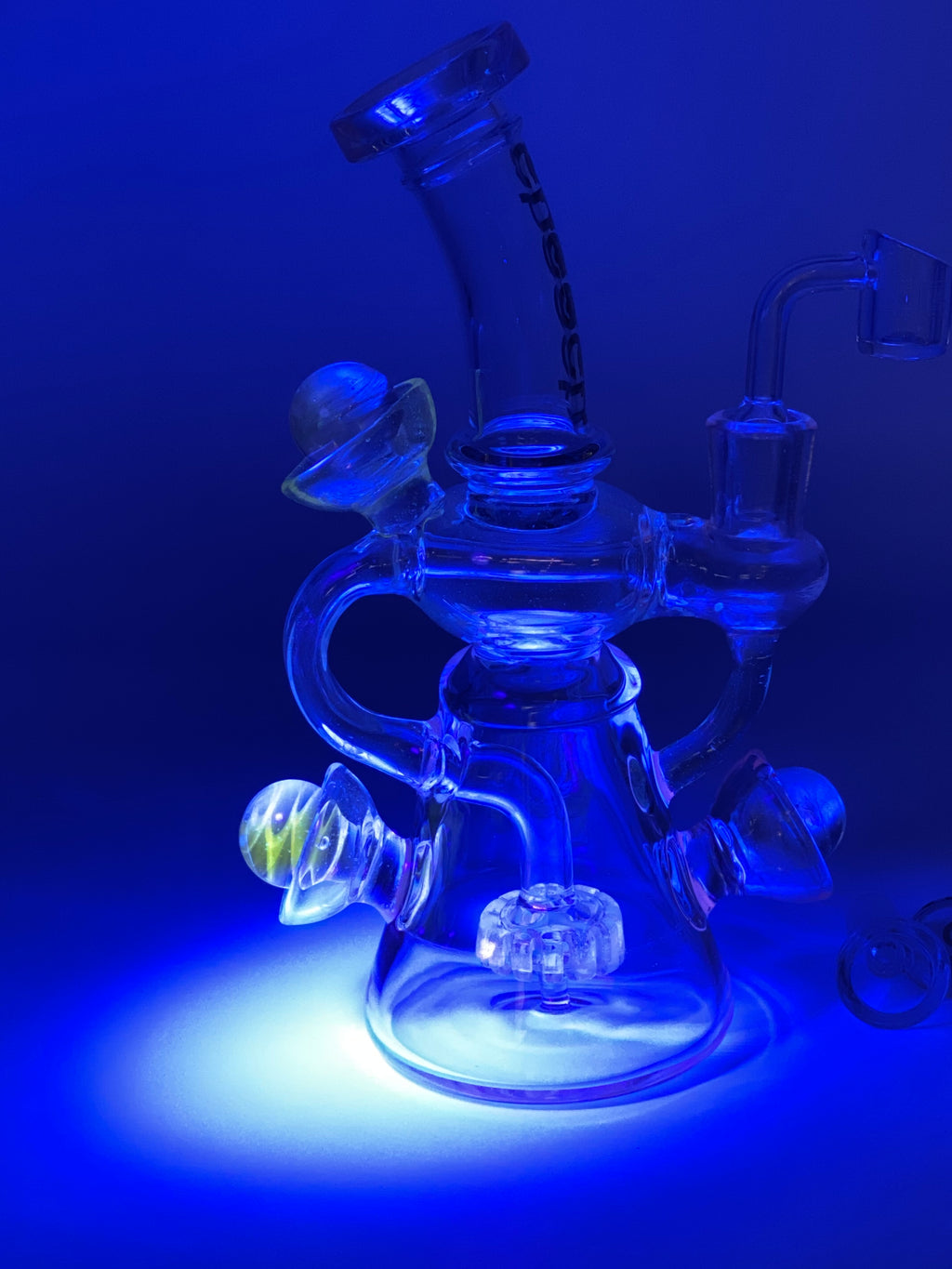 Cheech Glass Full UV Klein Recycler - Smoke Country - Land of the artistic glass blown bongs