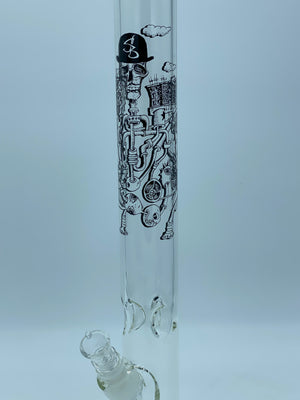 SHELDON BLACK 18 INCH STRAIGHT TUBE - Smoke Country - Land of the artistic glass blown bongs