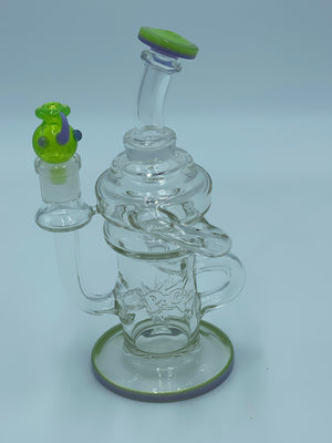PAG COLOR LIP RECYCLER RIG - Smoke Country - Land of the artistic glass blown bongs