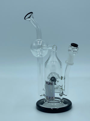 PURE GLASS BLACK LIP RECYCLER - Smoke Country - Land of the artistic glass blown bongs
