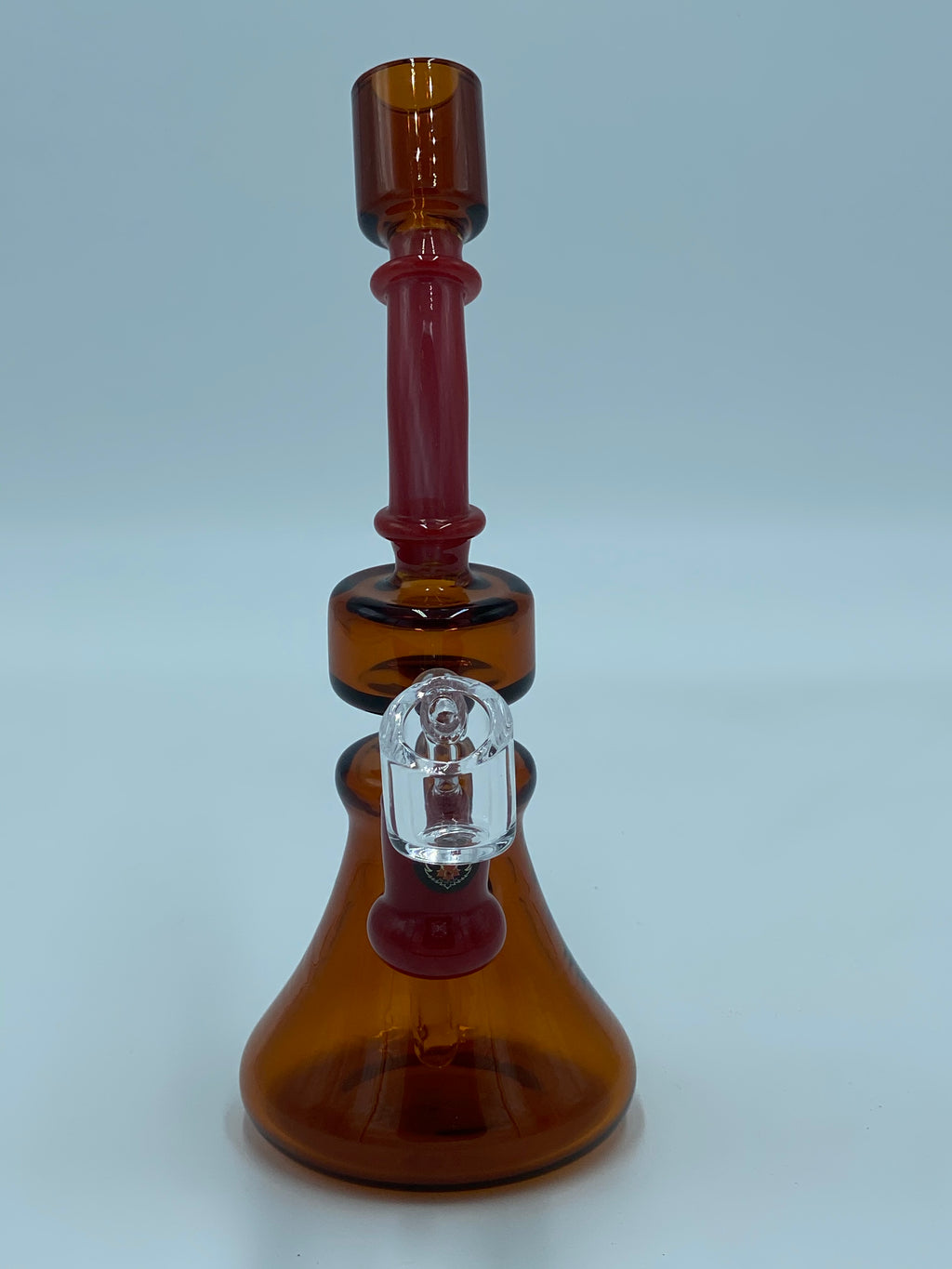 RED EYE GLASS AMBER RIG - Smoke Country - Land of the artistic glass blown bongs