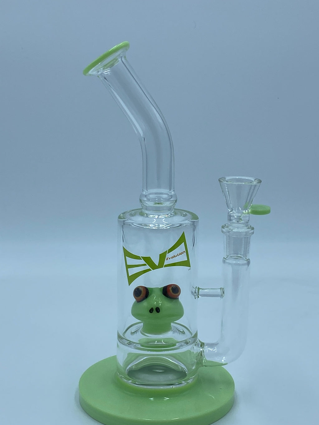 Evolution Glass SLIME KERMIT PERCOLATOR - Smoke Country - Land of the artistic glass blown bongs