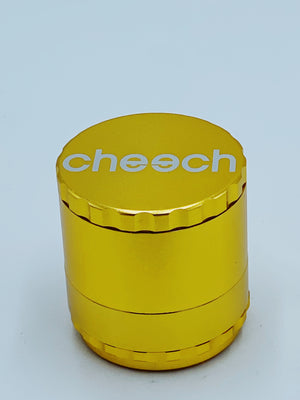 CHEECH LARGE GOLD REMOVABLE GRINDER - Smoke Country - Land of the artistic glass blown bongs