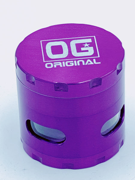 Og Medium Purple Glass Jar Grinder