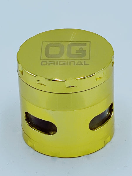 Og Gold Glass Jar Grinder