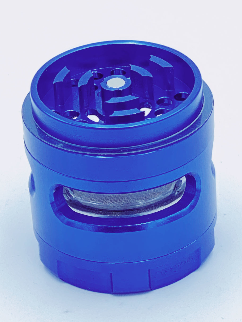 OG BLUE LARGE GLASS JAR GRINDER - Smoke Country - Land of the artistic glass blown bongs