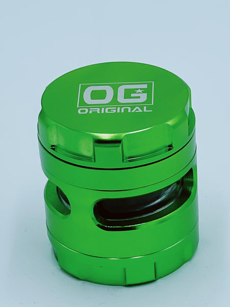 Og Green Large Glass Jar Grinder