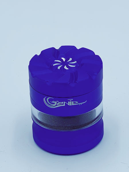 Genie Blue Medium Glass Jar Grinder