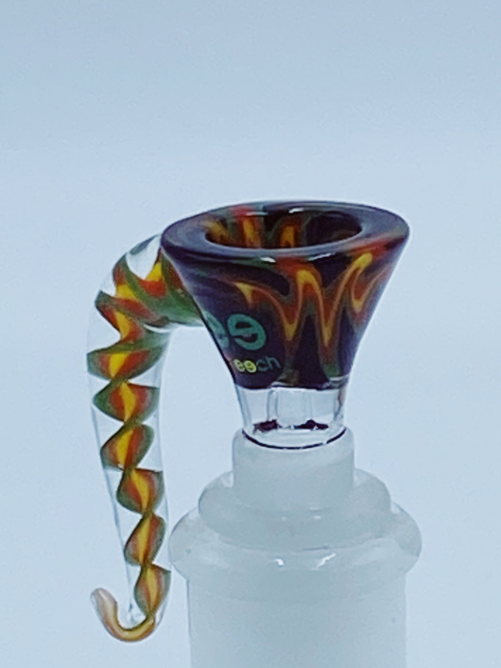 CHEECH GLASS 14mm WORKED HORN BOWL - Smoke Country - Land of the artistic glass blown bongs