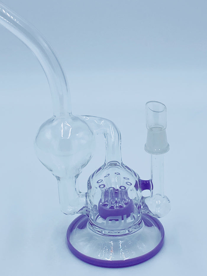 JM FLOW PURPLE SPRINKLER RECYCLER RIG - Smoke Country - Land of the artistic glass blown bongs