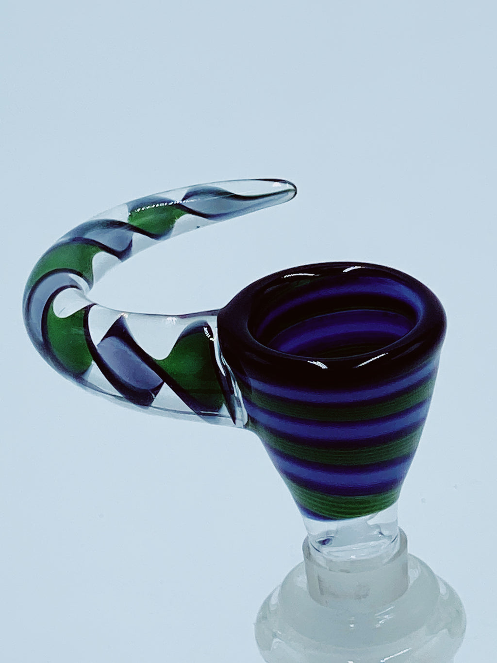 BOROSLAVE 14MM GREEN CANDYWRAP BOWL - Smoke Country - Land of the artistic glass blown bongs