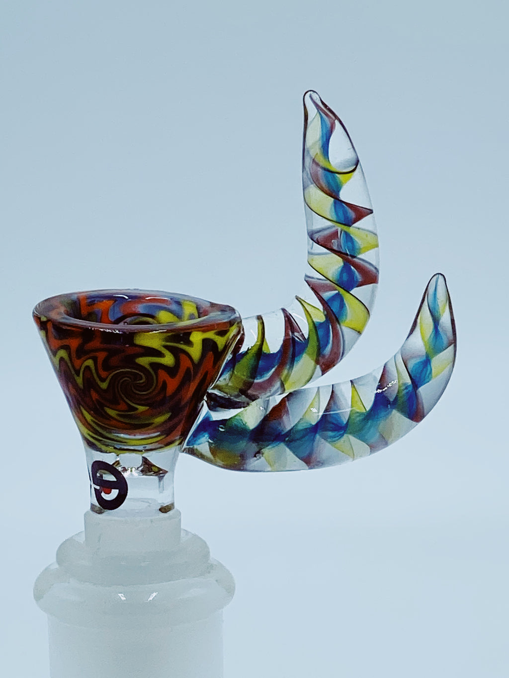 CHEECH DOUBLE HORN 14MM BOWL - Smoke Country - Land of the artistic glass blown bongs