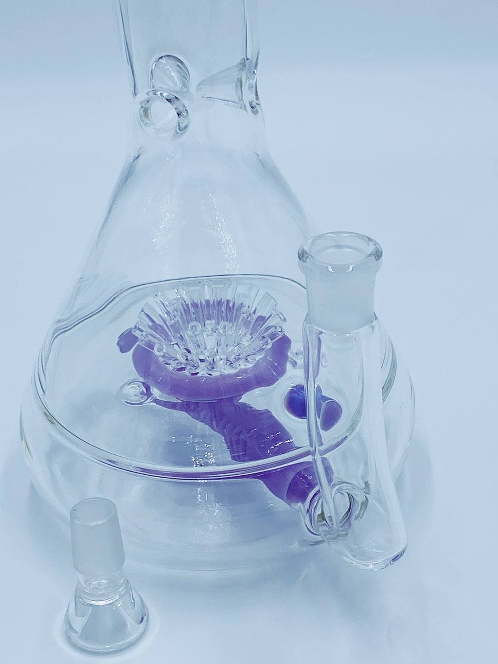 JM FLOW PURPLE SPRINKLER PERCOLATOR - Smoke Country - Land of the artistic glass blown bongs
