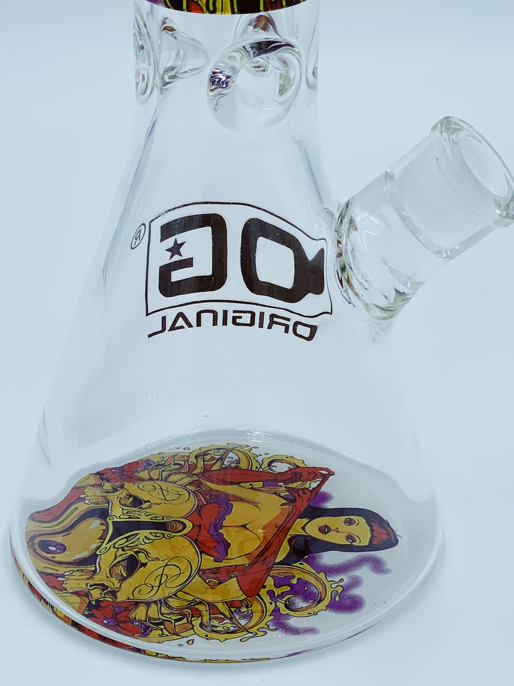 OG GLASS 9MM MAYAN BEAKER - Smoke Country - Land of the artistic glass blown bongs