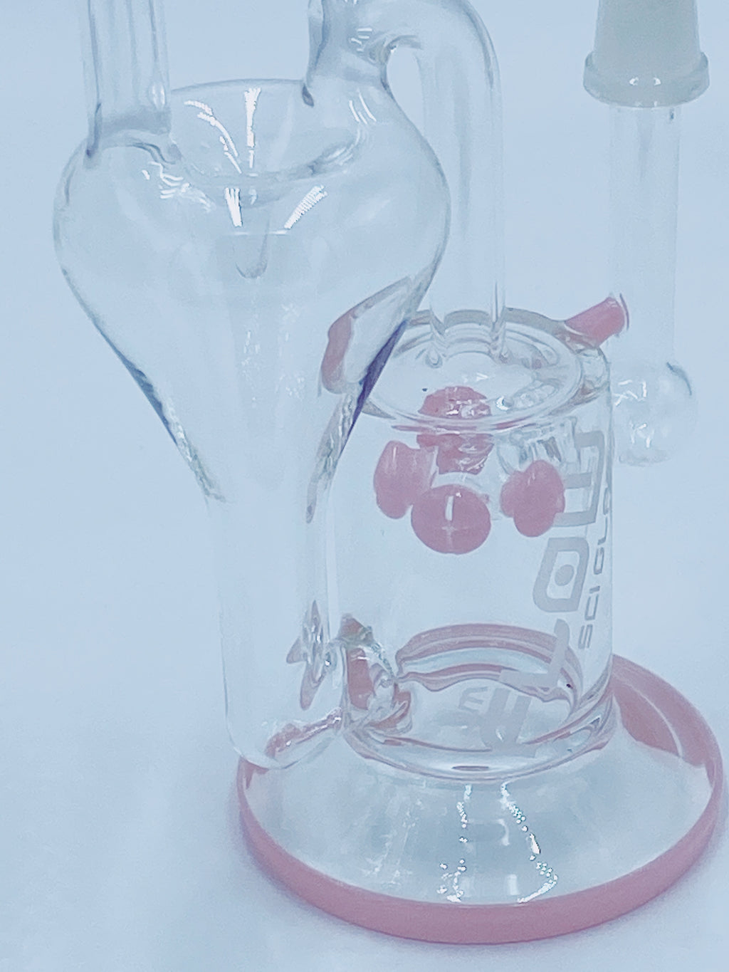 JM FLOW PINK RECYCLER - Smoke Country - Land of the artistic glass blown bongs
