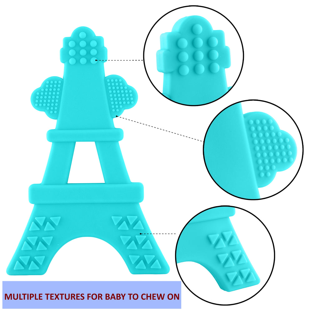100% Soft Silicone Tower Teething Toy | Safely Made in USA