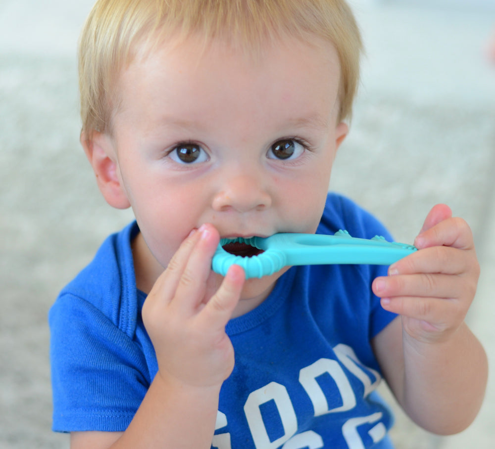 The Teething Key | Made in USA Teether for Infants | Soft Safe Silicone