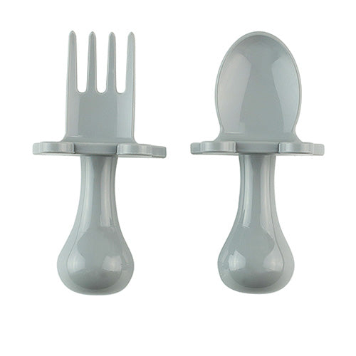 Baby Self Feeding Utensils | Ergonomic Spoon and Fork Set