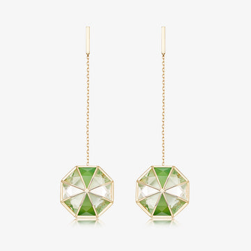 GREEN AURA EARRINGS