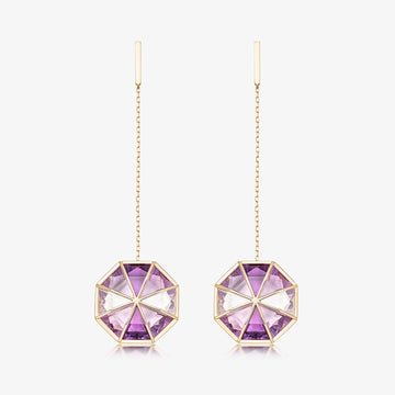 VIOLET AURA EARRINGS
