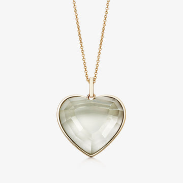 MINT AMETHYST HEART TALISMAN GOLD (MEDIUM)