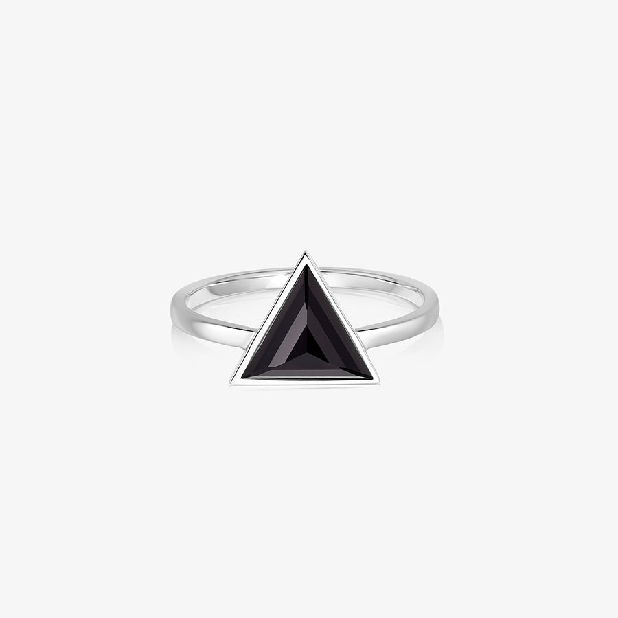 BLACK ONYX ULTIMATE GUARDIAN RING SILVER
