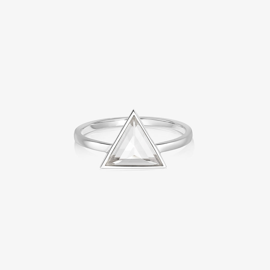 CLEAR QUARTZ ULTIMATE GUARDIAN RING SILVER