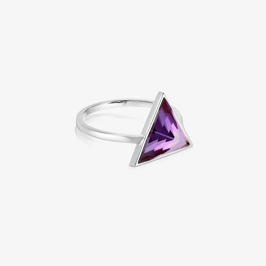 AMETHYST ULTIMATE GUARDIAN RING SILVER (LARGE)