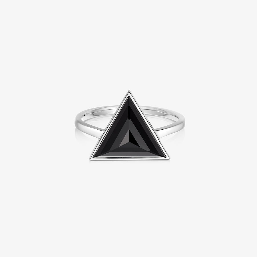 BLACK ONYX ULTIMATE GUARDIAN RING SILVER (LARGE)