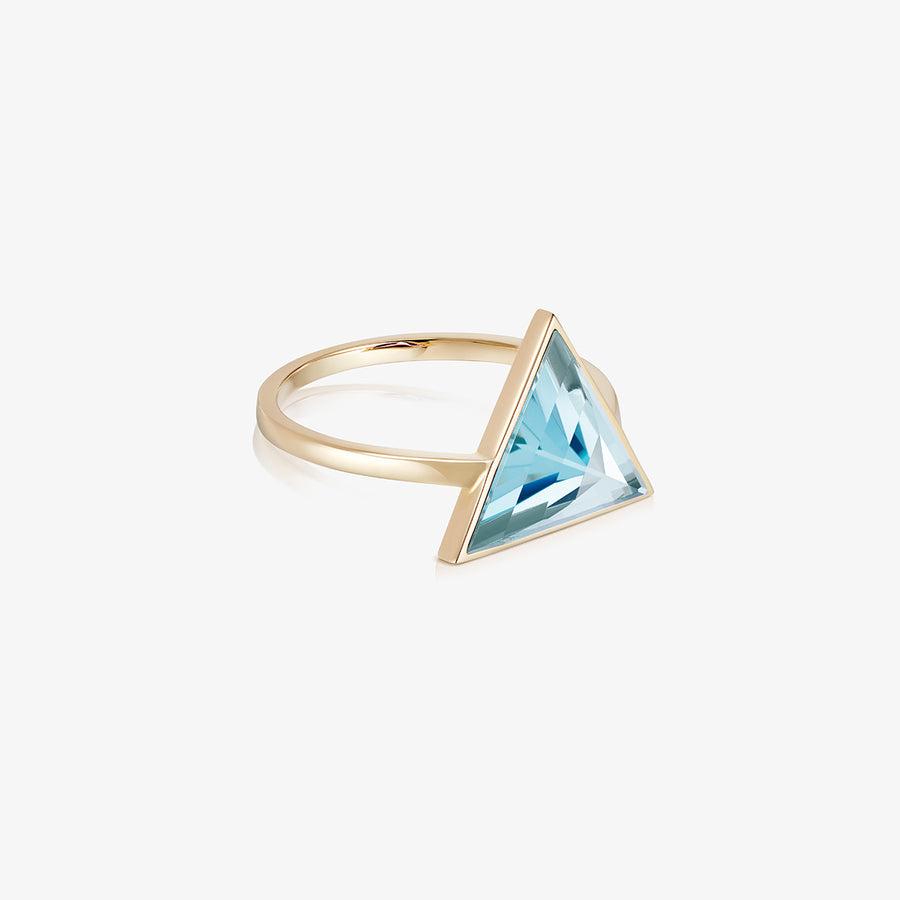 BLUE TOPAZ ULTIMATE GUARDIAN RING GOLD (LARGE)