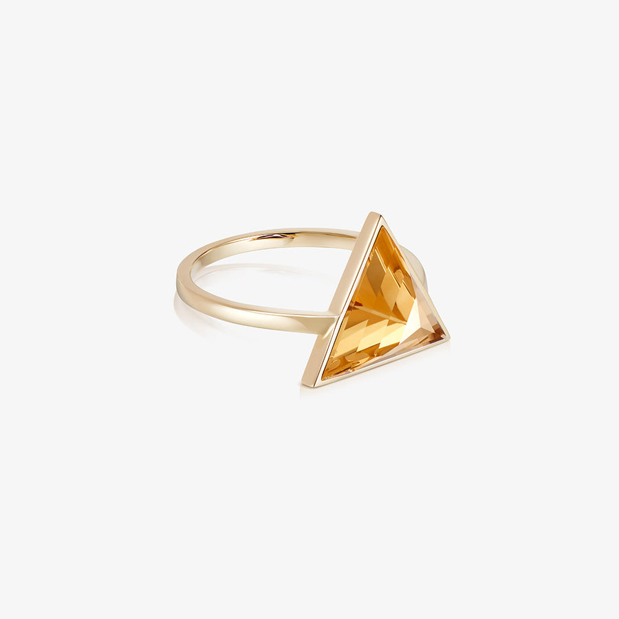 CITRINE ULTIMATE GUARDIAN RING GOLD (LARGE)
