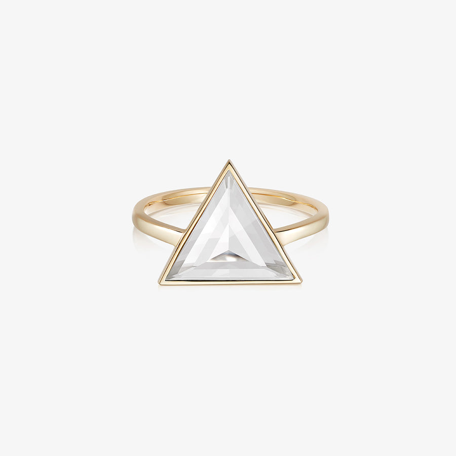 CLEAR QUARTZ ULTIMATE GUARDIAN RING GOLD (LARGE)