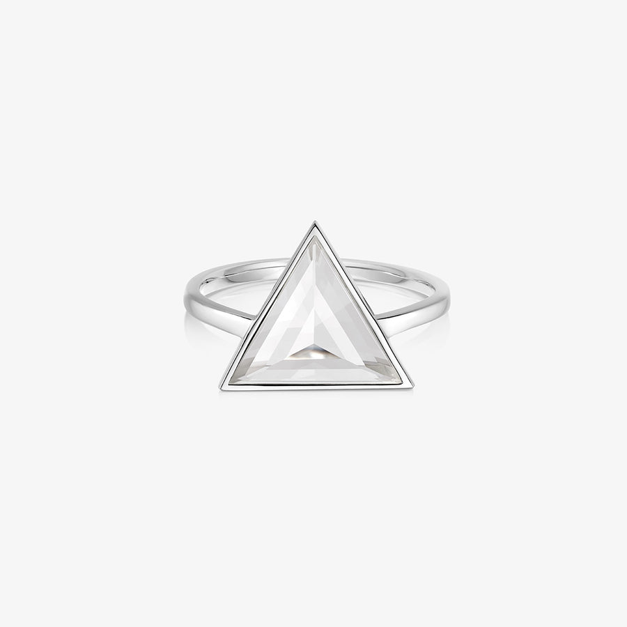 CLEAR QUARTZ ULTIMATE GUARDIAN RING SILVER (LARGE)