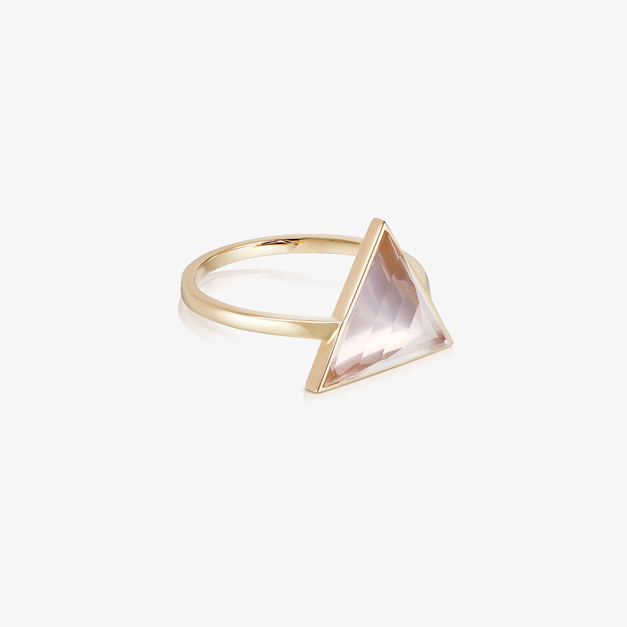 ROSE QUARTZ ULTIMATE GUARDIAN RING GOLD (LARGE)