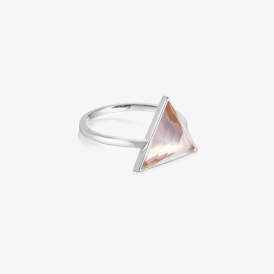 ROSE QUARTZ ULTIMATE GUARDIAN RING SILVER (LARGE)
